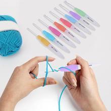 2,5-6,0 мм 8 шт. набор вязальных спиц ярких цветов мягкая пластиковая алюминиевая ручка для вплетать в пряжу крючки для вязания крючком