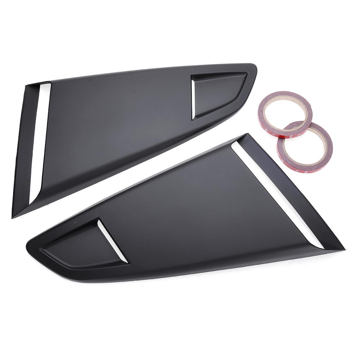 Nouveau 2 pc voiture côté fenêtre arrière quart persienne côté évent déflecteur Scoop couverture pour Ford pour Mustang 2015-2017 2Dr pour modèle coupé