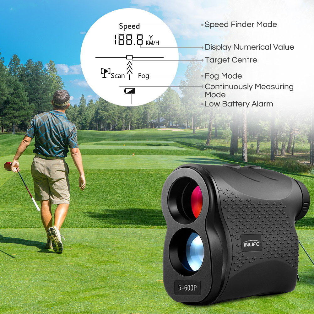 5 - 600P 6X Laser Range finder 600m laser Distance Meter Digital Monocular Golf Range Finder Hunting measure Telescope5 - 600P 6X Laser Range finder 600m laser Distance Meter Digital Monocular Golf Range Finder Hunting measure Telescope