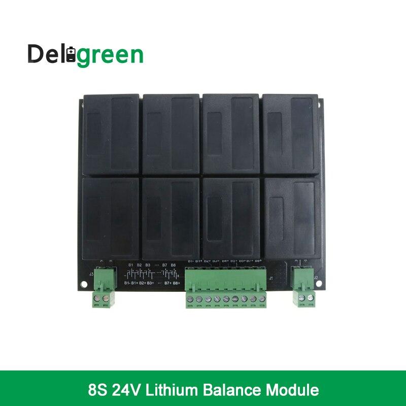 8S 24V QNBBM Lithium Battery Equalizer Balancer BMS for LIFEPO4 LTO NCM LMO 18650 DIY Pack