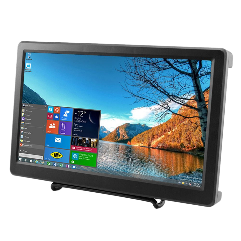 10.1 Inch 1920X1080P Resolution Hdmi Vga Display Monitor Ips Ps4 Gaming Screen With Build In Speakers For Raspberry Pi B+/