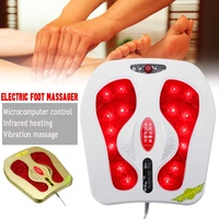 20W 220V Electric Foot Massager Vibration Infrared Heating Magnetic therapy Spa Relax Magnetic US Plug Blood Circulation Adjust