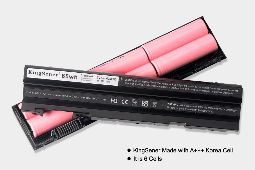 KingSener Corée Cellulaire 65WH N3X1D Batterie D'ordinateur Portable pour DELL Latitude E5420 E5430 E5520 E5530 E6420 E6520 E6430 E6440 E6530 E6540 - 2