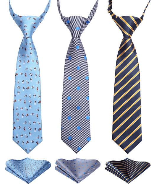 Lot de 3 cravates tissées pour enfants 27cm
