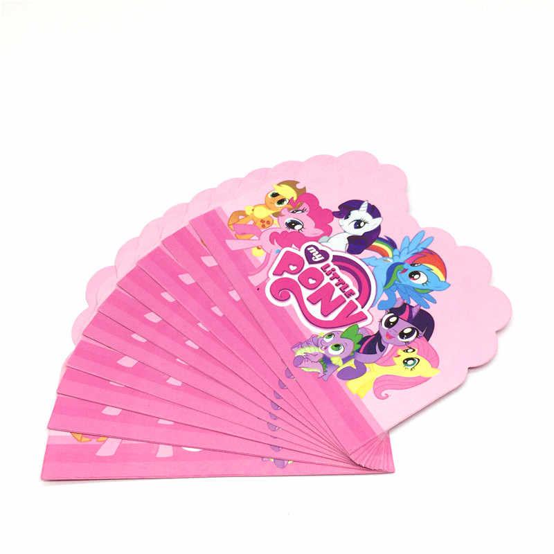10 Pcs 11x14 cm My Little Pony Cartoon Party Card Uitnodiging Kid Jongen Meisje Verjaardagsfeestje Wegwerp Party uitnodiging Benodigdheden