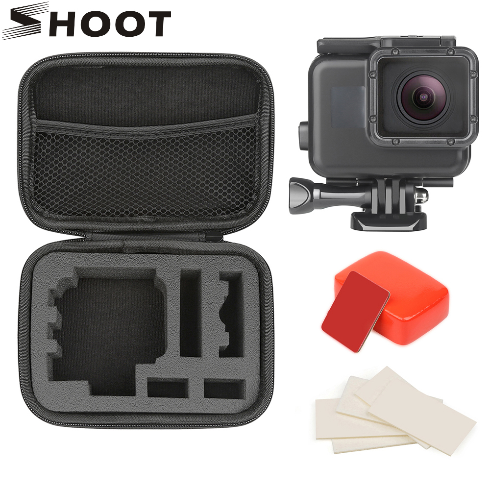 SHOOT For GoPro Hero 7 6 5 Black 45M Underwater Waterproof Case Diving Housing Mount For GoPro 7 6 5 Go Pro 7 Camera Accessories