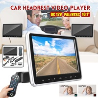 10.1'' Digital HD Touches Screen Car DVD Player Headrest Monitor USB/SD/HDMI/FM/Game/MP5 Audio Video Radio Amplifier Stereo