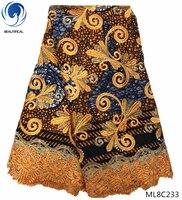 BEAUTIFICAL wax mix lace fabrics african wax fabrics with guipure lace 2019 high quality fabric dress 6yards/lot ML8C224 ML8C235