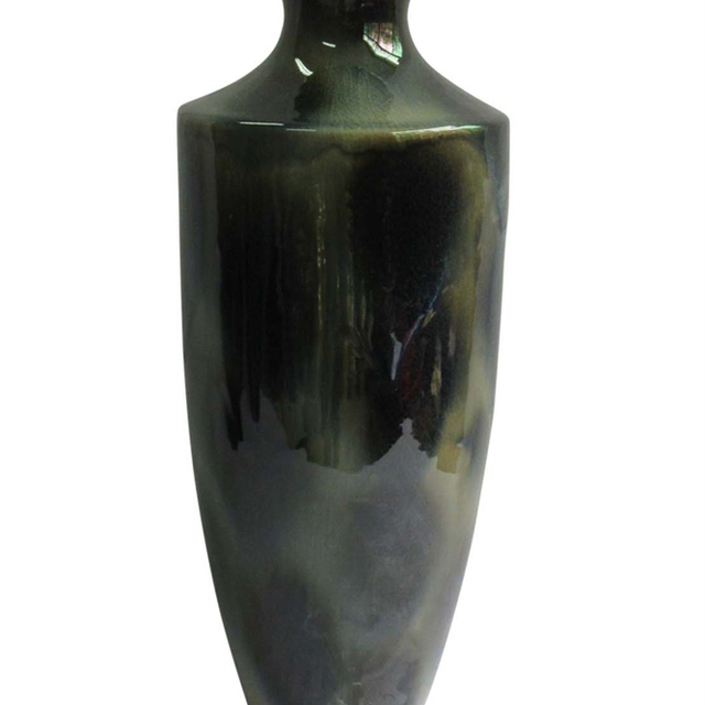 Aesthetically Enchanted Ceramic Vase, Green