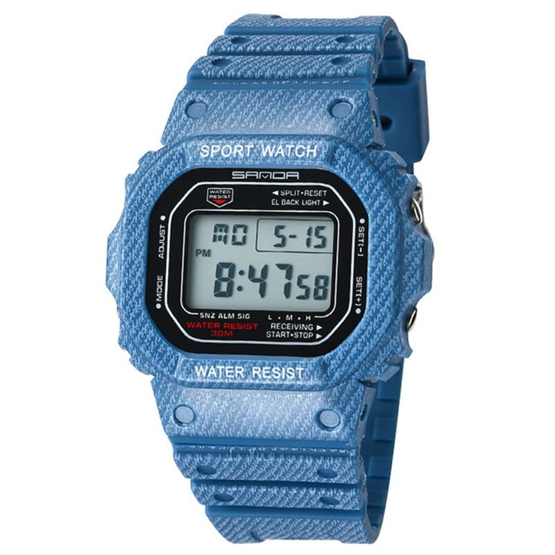 Sanda Sports Led Electronic Digital Watch Waterproof Hand Expression WatchSanda Sports Led Electronic Digital Watch Waterproof Hand Expression Watch