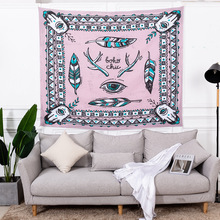 chic mandala tapestry macrame wall hanging boho decor witchcraft unicorn wolf cloth tapestries carpet beach throw