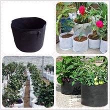 3/5/7/10/15 Gallon Black Plants Growing Bag Vegetable Flower Pot Container DIY Potato Garden Planting Farm Home Grow