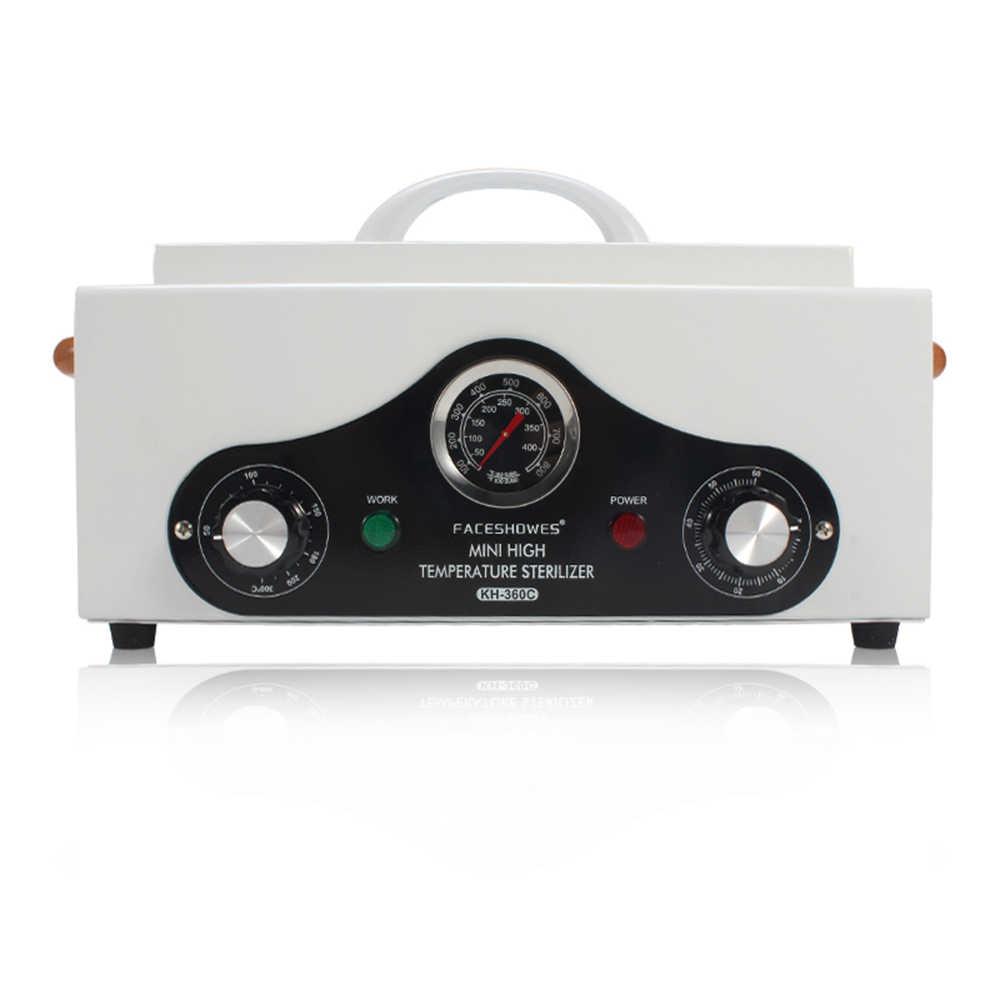 220 V-240 V Yüksek Sıcaklık Elektrikli Manikür Tırnak Aracı Sterilizatör Kutusu Dezenfeksiyon Kabine Taşınabilir Ekipman Sterilizasyon Aracı