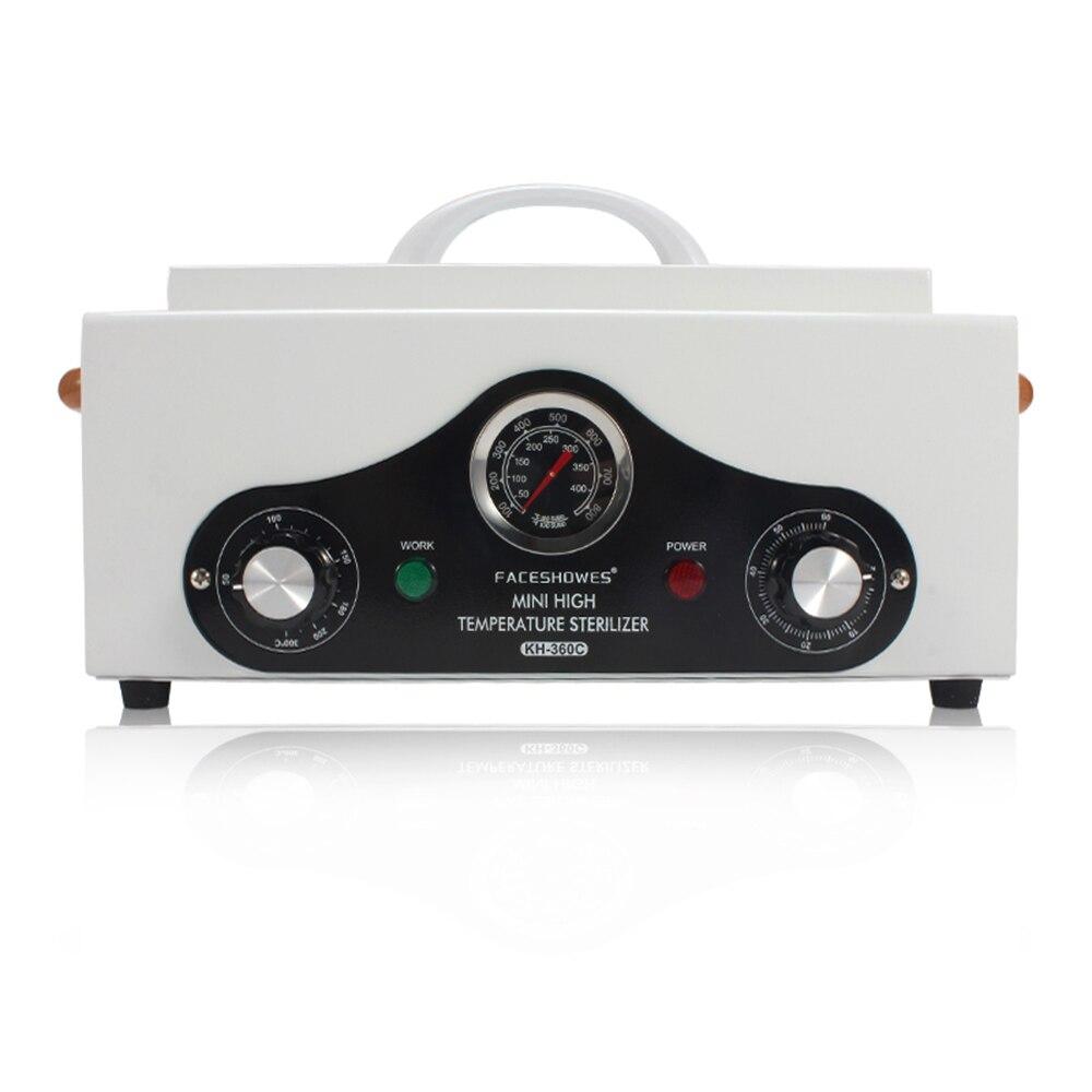 220 v-240 v de alta temperatura elétrica manicure prego ferramenta esterilizador caixa desinfecção gabinete portátil equipamento esterilização ferramenta