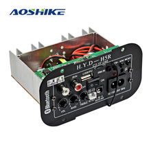 Amplificadores de áudio incorporados 12 v 24 v 220 v do bluetooth do carro da placa do amplificador do subwoofer de aoshike para oradores de 5-8 polegadas diy