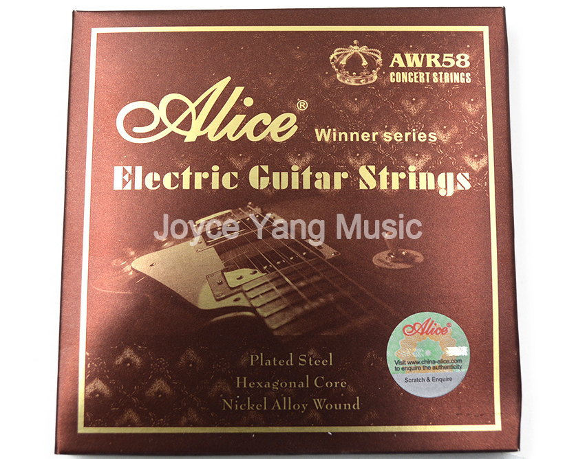 Alice AWR58 Electric Guitar Strings Plated Steel Hexagonal Core Nickel Alloy Wound Strings Free Shipping