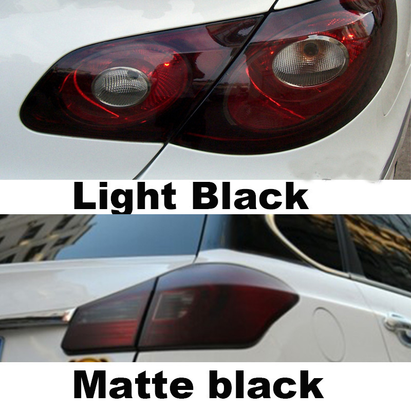 Auto Car Smoke Fog Light Headlight Taillight Tint Vinyl Film Sheet Sticker Black