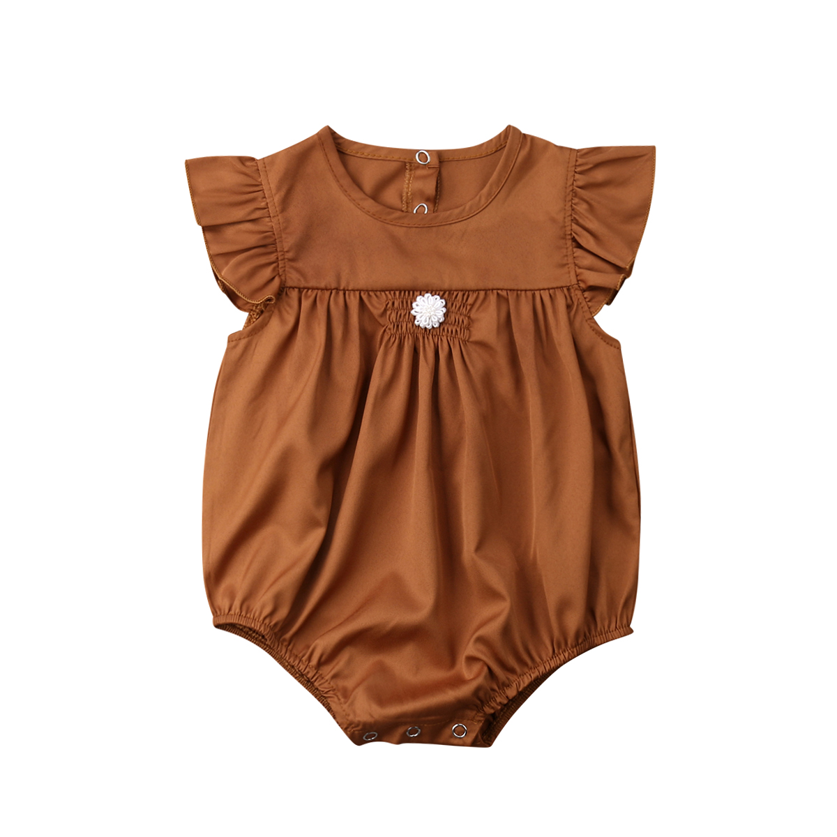 Summer Newborn Baby Girl Vintage Ruffle Romper Jumpsuit