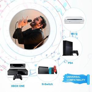 Image 2 - Mới USB Có Dây 3M/9.8ft Tay Cầm Chơi Game Điện Tử sử dụng Micro Cao cấp Hát Karaoke MIC cho Nintend Công Tắc PS4 Wii U XBOX360 PC