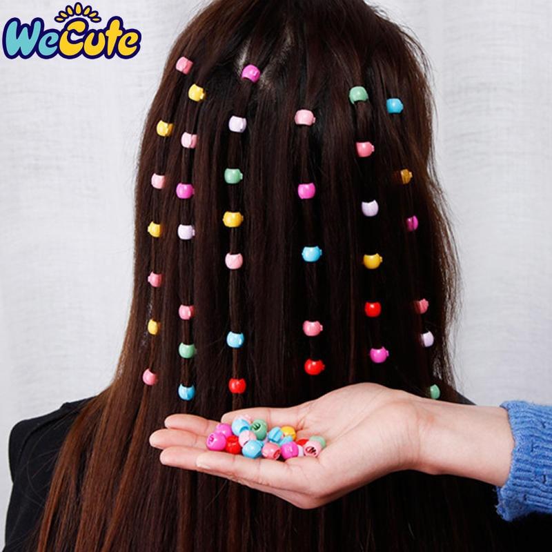 Wecute 20pcs Hair Pins For Kids Colored Small Sugar Beans Grab Clip Braided Hair Clip Side Clip Baby Girl Hair Accessories