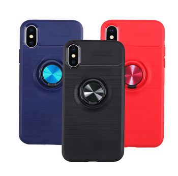 finger ring holder silicone case for Iphone X iphone xs cases car holder magnetic socket tpu back cover coque etui kryt tok husa image