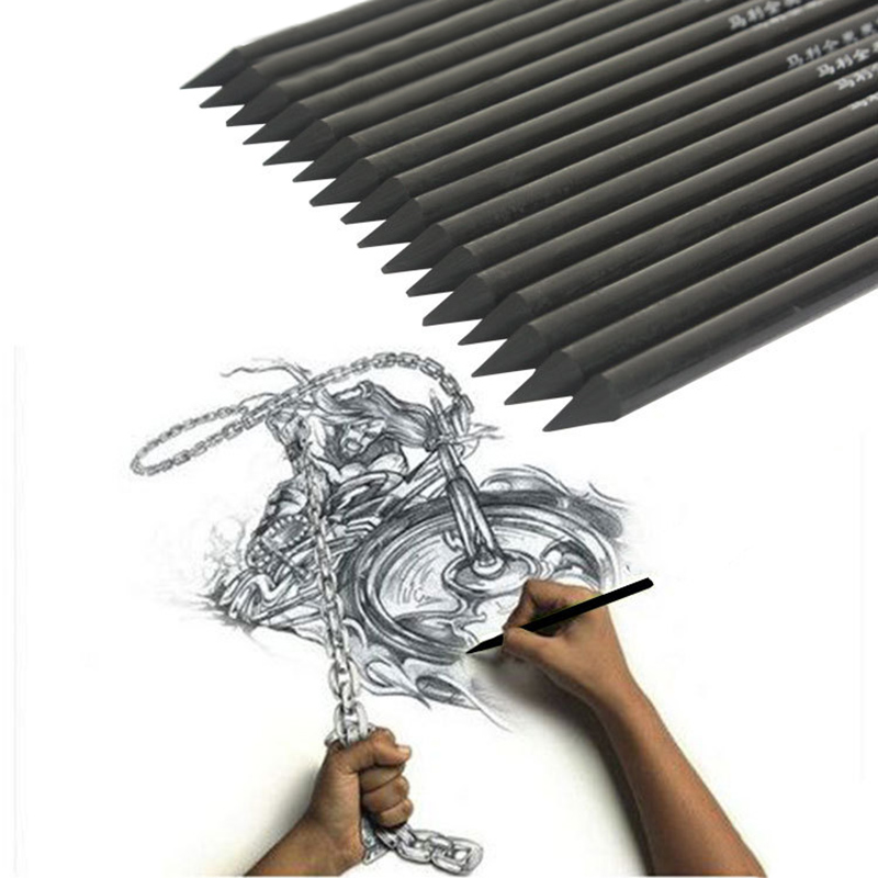 1 Piece Artist Professional Drawing Charcoal Pencils Multifunction Sketching Pencils For Students School Office Art Supplies