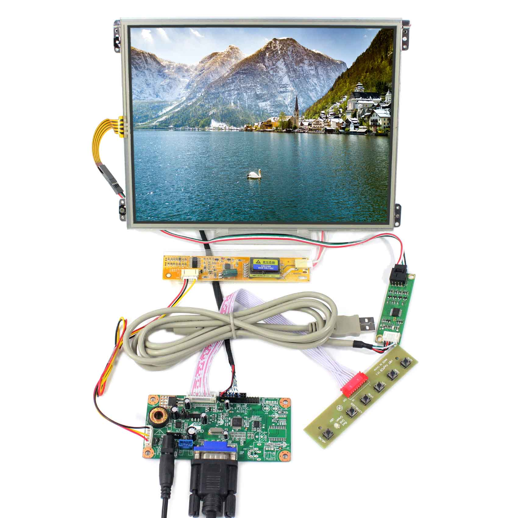 10.4inch  1024X768 IPS LCD Screen HT10X21-311 With Touch Panel VS104TP-A1 with VGA LCD Controller Board RT2270C-A10.4inch  1024X768 IPS LCD Screen HT10X21-311 With Touch Panel VS104TP-A1 with VGA LCD Controller Board RT2270C-A