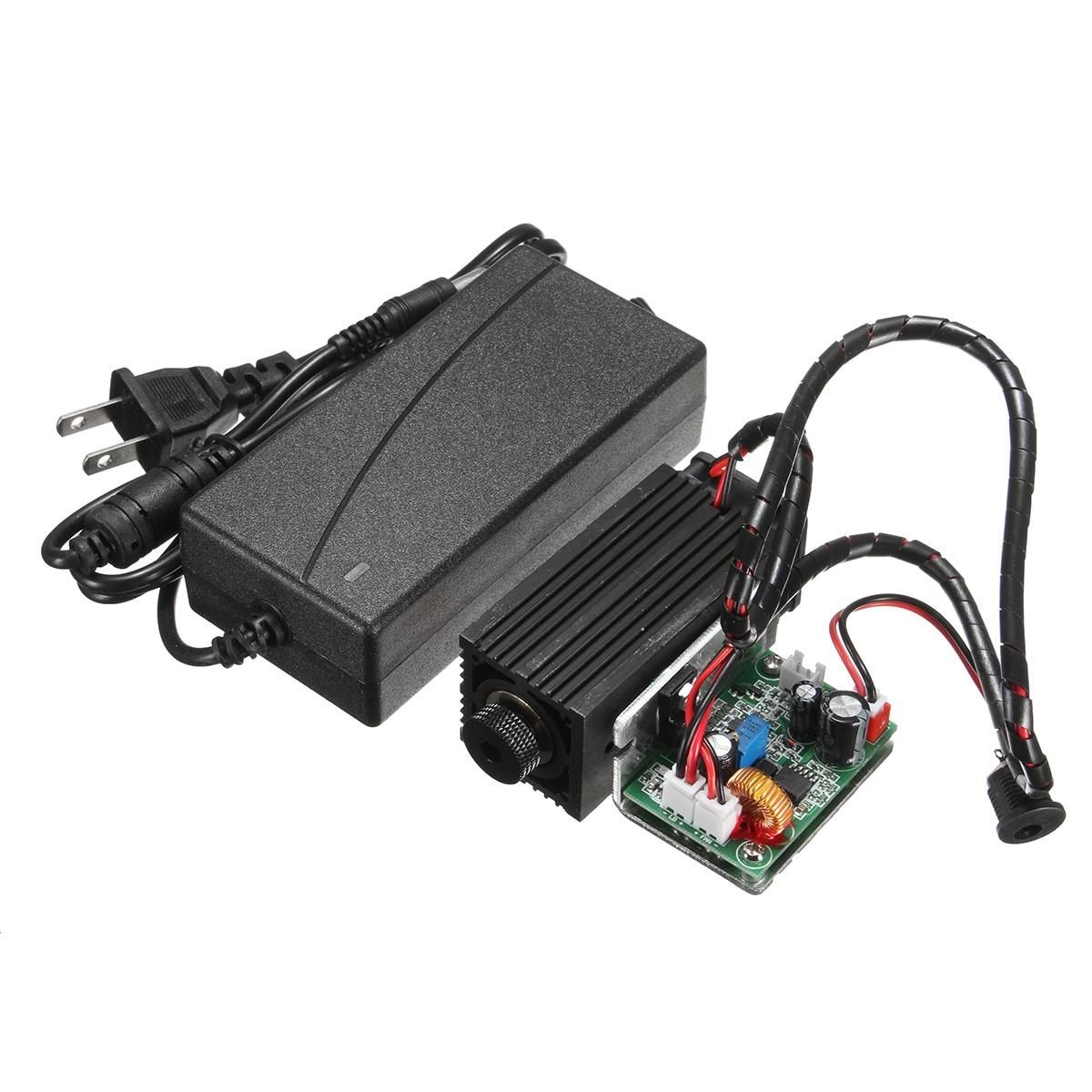10 W Módulo 450nm Luz Azul Marcação Gravador Gravura Cabeça Do Laser Com TTL Modulação DIY Diodo Marcação de Metal