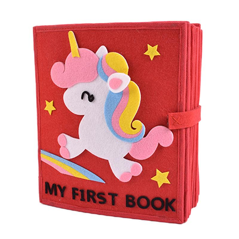 Bébé livre calme apprentissage doux livres en tissu avec dinosaure cheval infantile poussette éducative hochet jouet nouveau-né lit bébé jouets