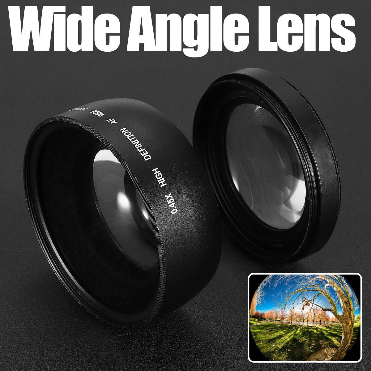 58 мм 0.45X широкоугольный макрообъектив для Canon EOS 1000D 1100D 500D Rebel T1i T2i T 3 часть объектива камеры