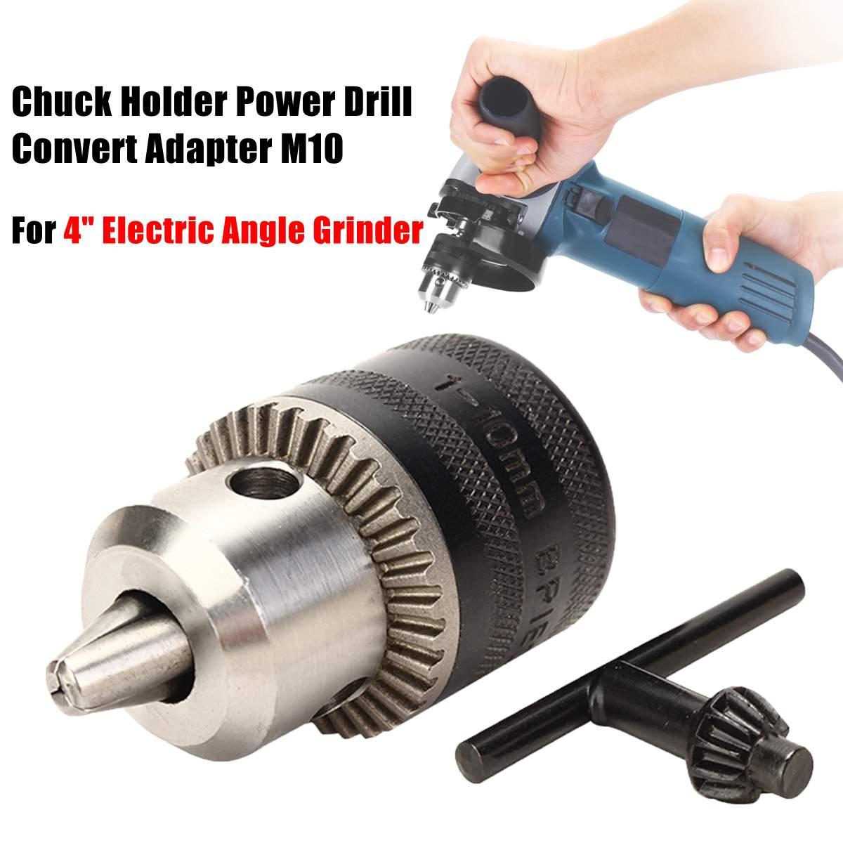 10mm Chuck Holder Power Drill Convert Adapter M10 For 4 Electric Angle Grinder10mm Chuck Holder Power Drill Convert Adapter M10 For 4 Electric Angle Grinder