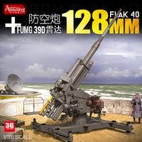 Assembly German 12.8 CM FLAK40 Gun and FuMG39D Radar 35A020 Model Kit