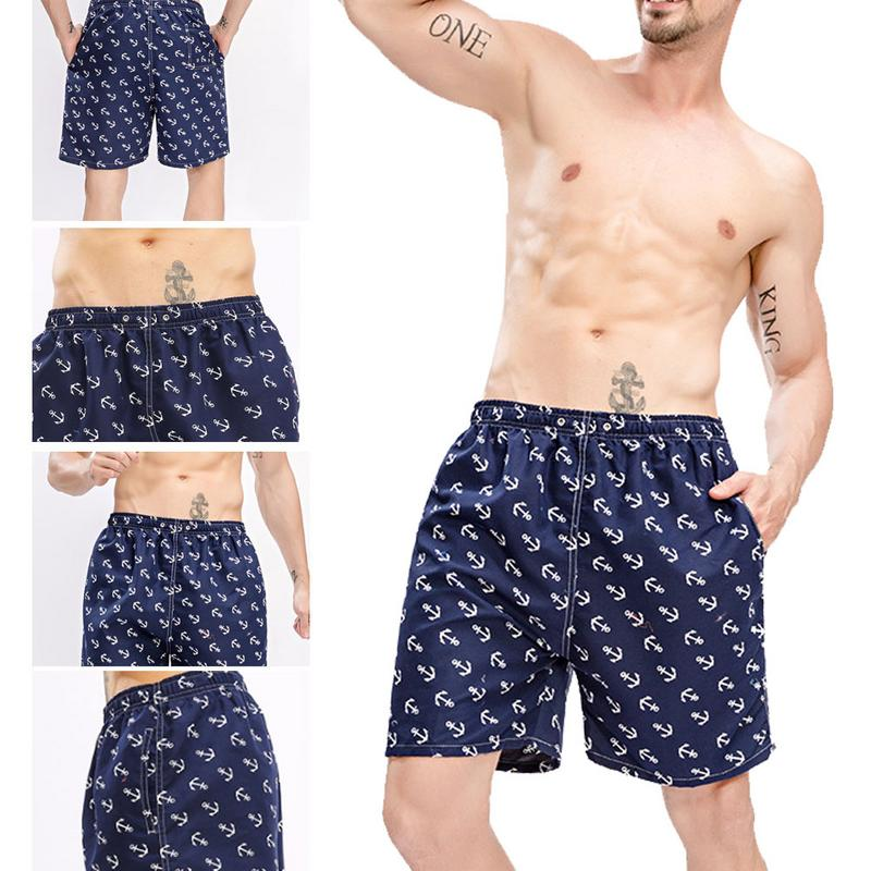 Men Polyester   Board     Shorts   Summer Beach Pants Quick Drying Swimwear Male Swim   Shorts   Swimming Trunks Casual Large   Shorts