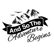 15*11.3cm And So The Adventure Begins Car Caravan Camper Van Laptop Vinyl Decal Sticker