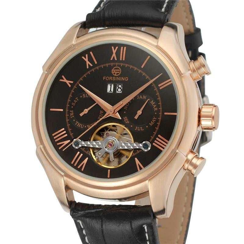 Forsining Tourbillion Black Golden Wave Dial Fashion Casual Design Men Watch Top Brand Mechanical Automatic Wrist Watch For MenForsining Tourbillion Black Golden Wave Dial Fashion Casual Design Men Watch Top Brand Mechanical Automatic Wrist Watch For Men