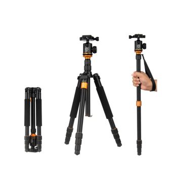 QINGZHUANGSHIDAI Q999S Professional Photographic Portable Aluminium Alloy Tripod Kit Monopod Stand Ball head For Travel DSLR C