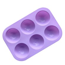 Half Ball Sphere Silicone Cake Mold Muffin Chocolate Cookie Baking Mould Decor Hole Round Shape Fondant Cake Tools Cake decor(China)