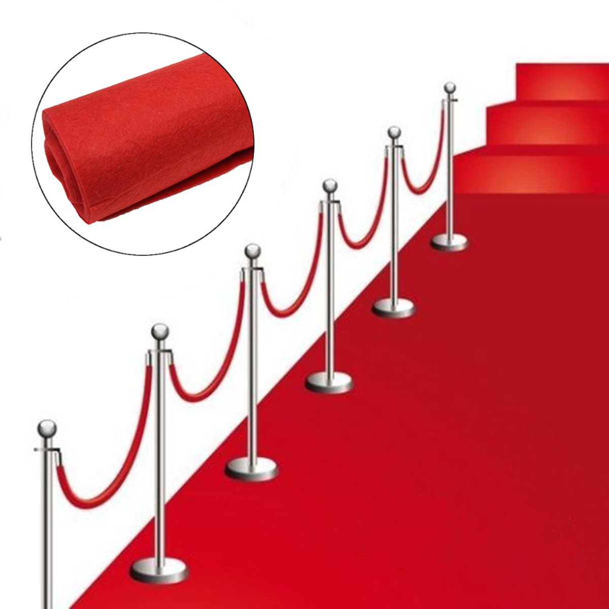 10m Polyester Large Red Carpet Wedding Aisle Floor Runner Carpet Rug Hollywood Awards Events Wedding Party Events Decoration