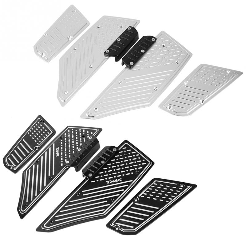 4pcs Motorcycle Modified Anti skid Footrest Footpads Foot Pegs Pedals Plate Pads for Yamaha T max