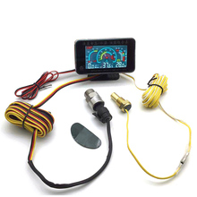 Universal car 3 IN 1 LCD 12v/24v Truck Car Oil Pressure Voltage Water Temperature combination table With Sensors