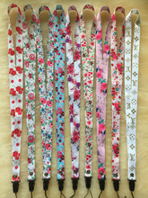small floral heat mobile phone lanyard fresh cartoon printed hanging neck rope work card ornaments