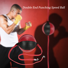 Boxing Speed Ball Double End Punching Striking Solid Leather Sporting Fitness MMA Training Gear