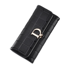 Europe And United States Big-Handed Womens Wallet Long Fashion Buckle Multi-Function Multi-Card