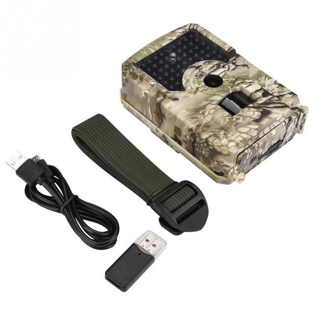 Cámara de caza impermeable a prueba de polvo infrarrojo 1080 P 12MP cámaras de rastro vida silvestre caza videocámara accesorios de caza