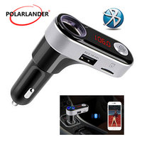 Car MP3 Player Bluetooth FM transmitter audio modulator FM Car Handsfree LCD screen Car Charger Cigarette Lighter