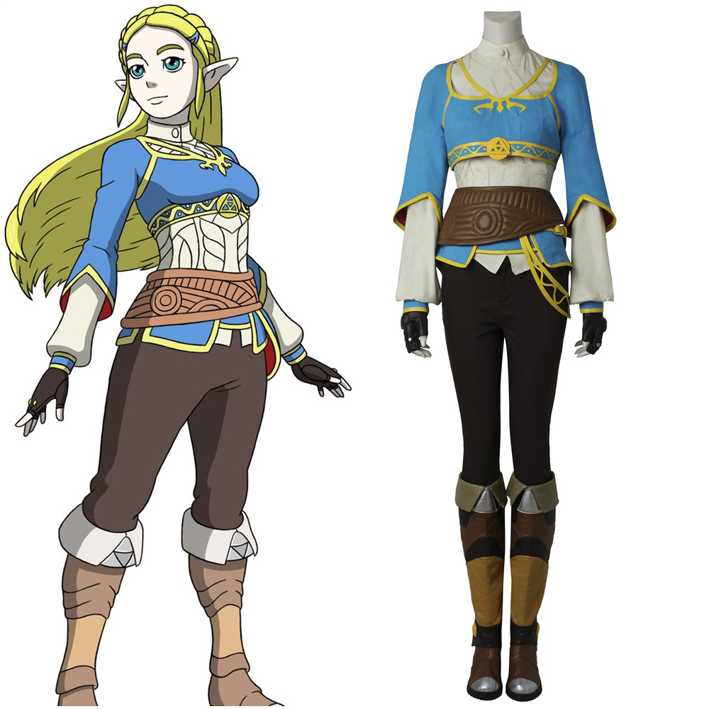 Us 145 25 5 Off The Legend Of Zelda Breath Of The Wild Princess Zelda Cosplay Costume Handmade In Game Costumes From Novelty Special Use On