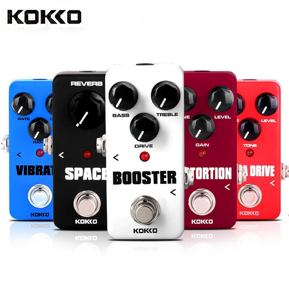 KOKKO guitare Mini effets pédale Chorus Overdrive Booster compresseur Vibrato haute qualité pour guitare électrique pièces & accessoires