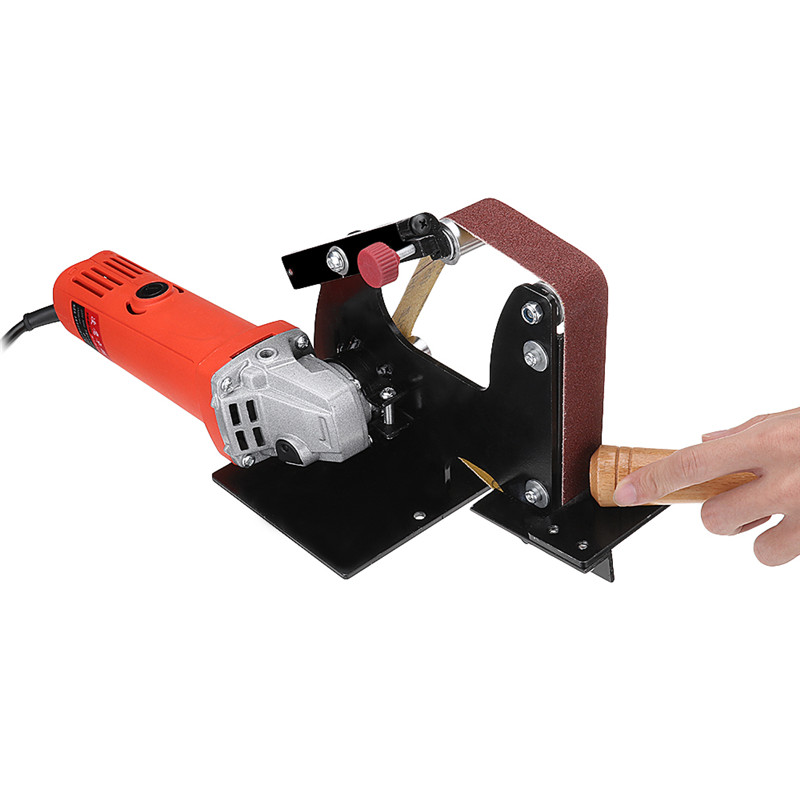 Angle Grinder Belt Sander Attachment Metal Wood Sanding Belt Adapter Use 100 Angle Grinder Brand New