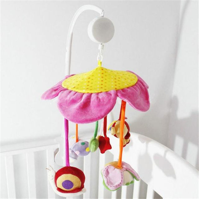 New Arrived White DIY 5 pcs/set ABS Set Baby Crib Mobile Bed Bell Toy Holder Arm Bracket Nursery Music Love Baby Rattles