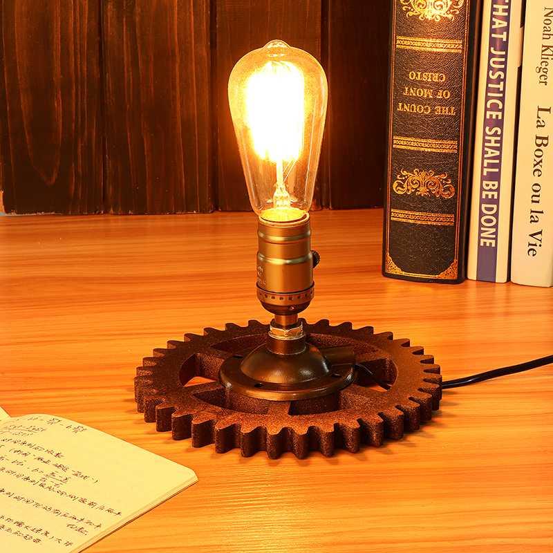 Novelty Desk Lamp Based Retro Loft Industrial Fixture Transformed by Iron Pipe Table Desk Lamp Light Based America Style Light